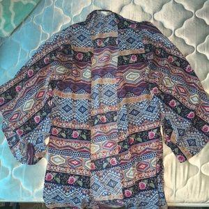 Multi-colored cardigan